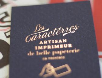 Les Caracterres : atelier d'impression letterpress